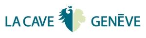 LA CAVE- horizontal fond blanc écriture bleue picto bleu or